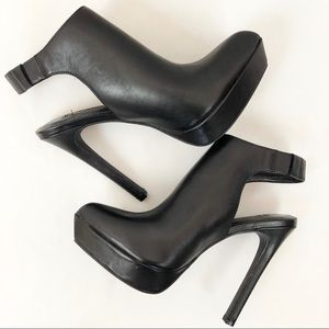 BCBGeneration Sloan Black Pointed Toe Booties 8